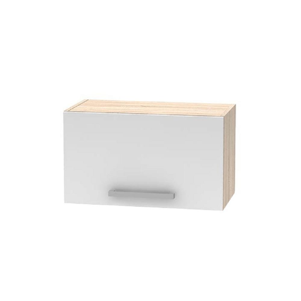 Felső páraelszívó szekrény 1DV, tölgy sonoma/fehér, NOVA PLUS NOPL-011-OH
