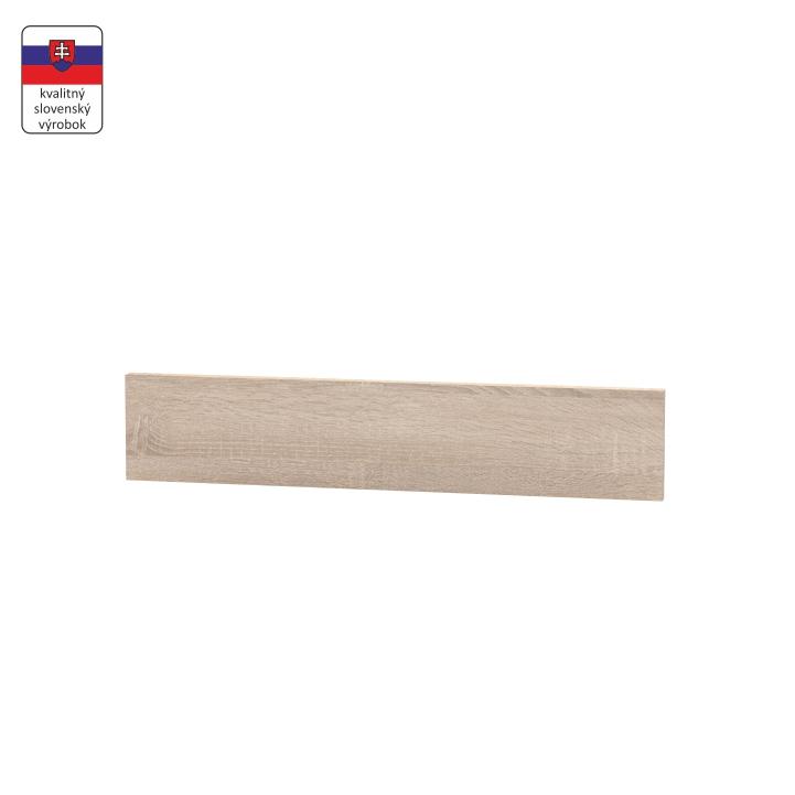 Koncový bočný sokel na nízke skrinky, dub sonoma, NOPL-062-00, na bielom pozadí