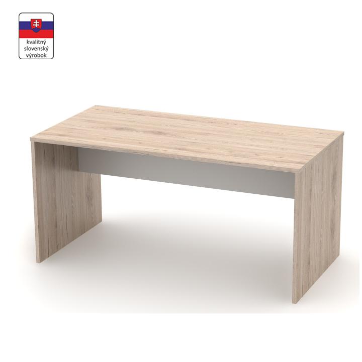 Písací stôl, san remo/biela, DTD laminovaná,  RIOMA TYP 16