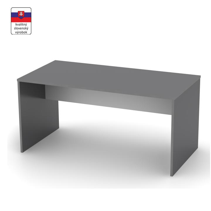 Písací stôl, grafit/biela, DTD laminovaná,  RIOMA TYP 16