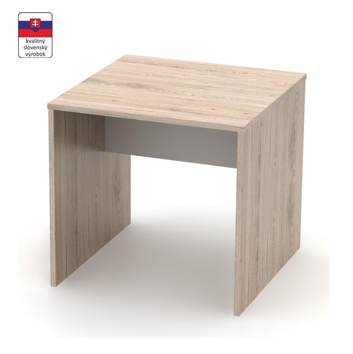 Písací stôl, san remo/biela, DTD laminovaná,  RIOMA TYP 17, na bielom pozadí