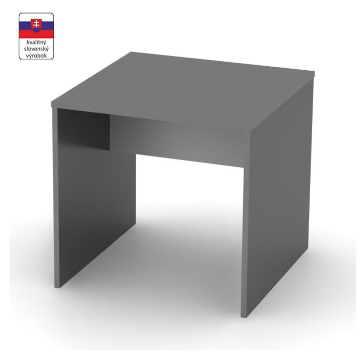 Písací stôl, grafit/biela, DTD laminovaná,  RIOMA TYP 17