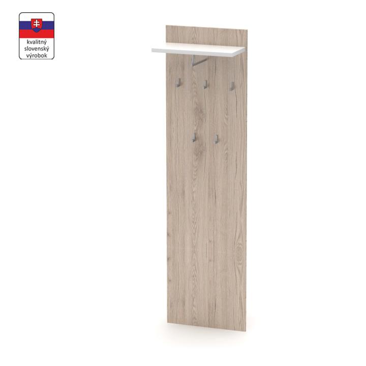 Vešiakový panel, san remo/biela, DTD laminovaná,  RIOMA TYP 19, na bielom pozadí