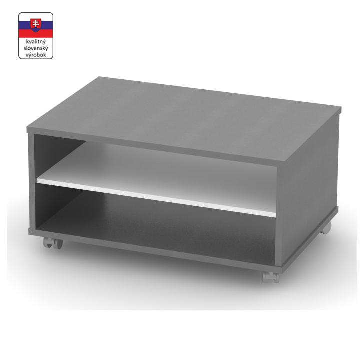 Konferenčný stolík, grafit/biela, DTD laminovaná, RIOMA TYP 32