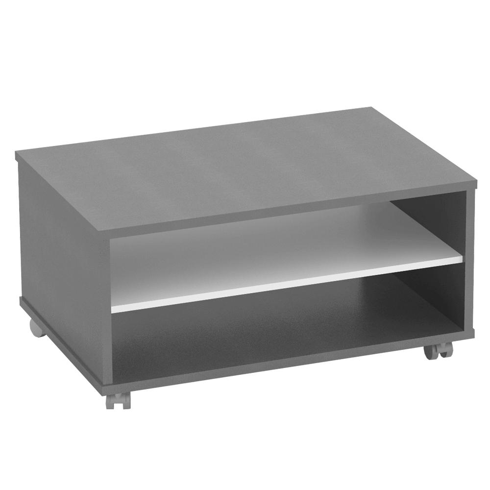 Dohányzóasztal, grafit/féher , RIOMA NEW TYP 32