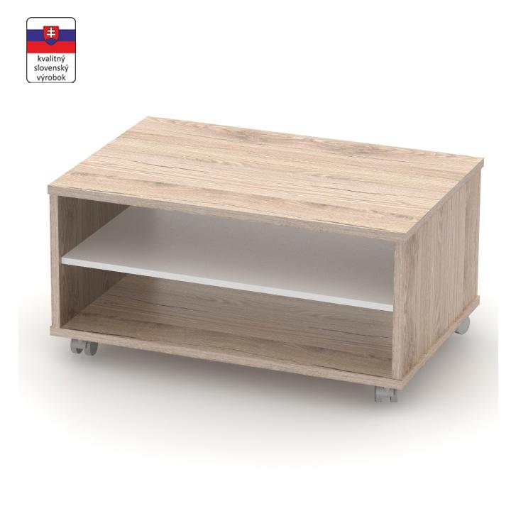 Konferenčný stolík, san remo/biela, DTD laminovaná, RIOMA TYP 32