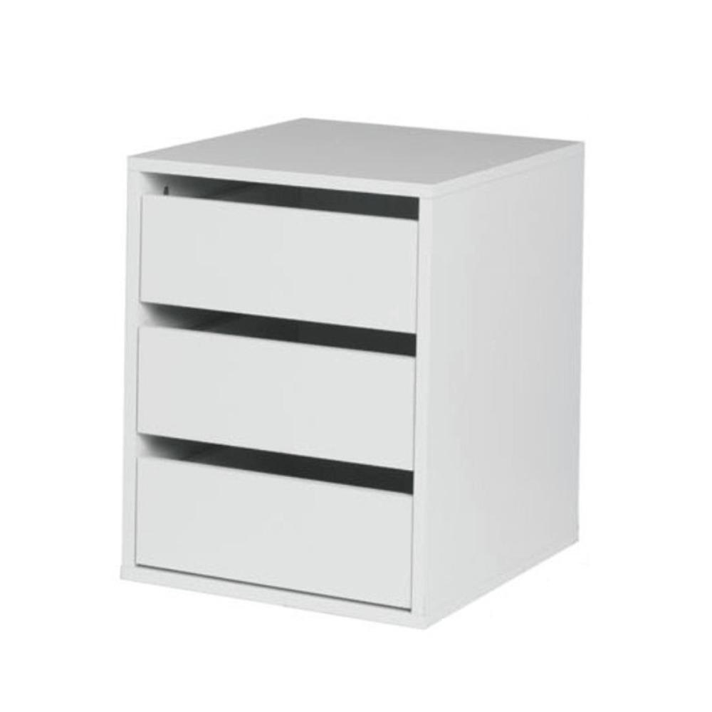 fiókos elem akasztós szekrénybe, fehér, ITALIA