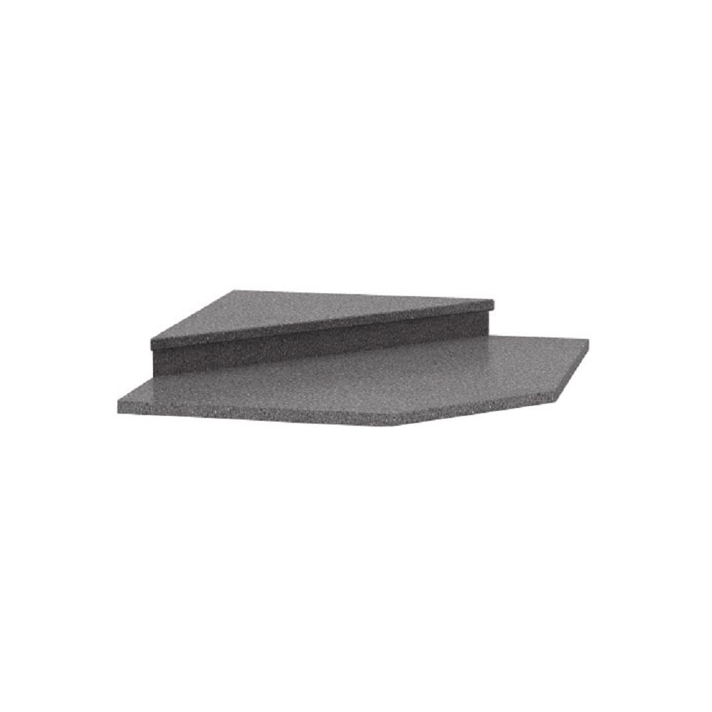 Felsőszekrény sarokszekrényhez 065, dekor granit antracit, NOVA PLUS