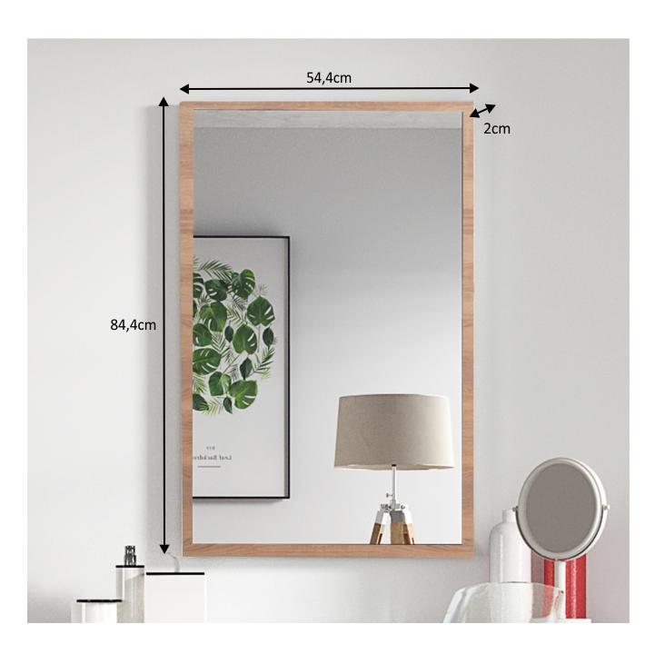 Zrkadlo, dub sonoma, DTD laminovaná, VIOLET - fotka s rozmermi