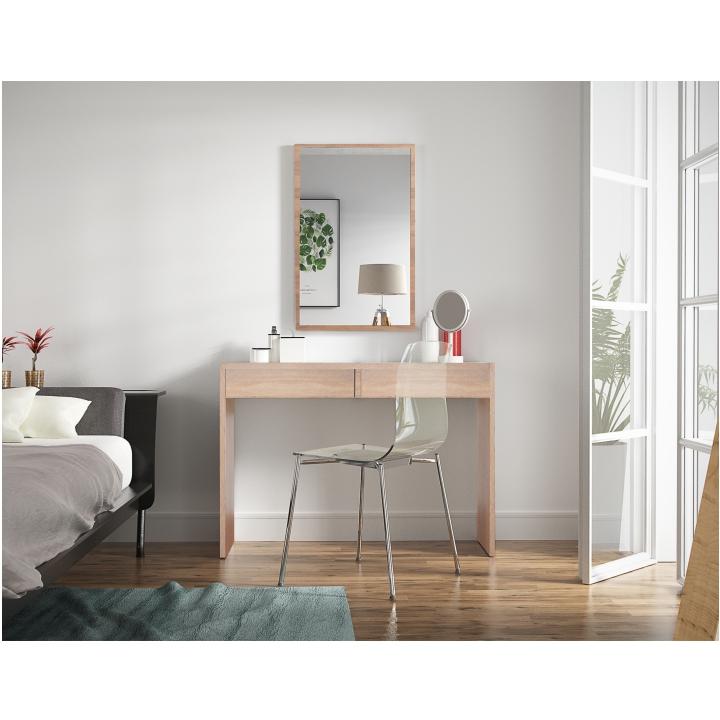 Zrkadlo, dub sonoma, DTD laminovaná, VIOLET - zrkadlo v interiéri