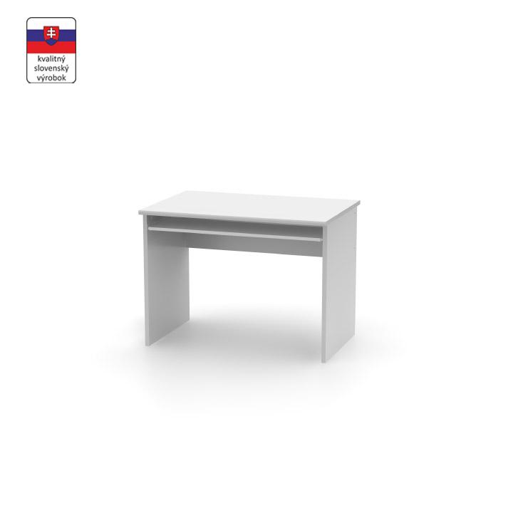 Kancelársky písací stôl z DTD laminovaná, biela, JOHAN NEW 02
