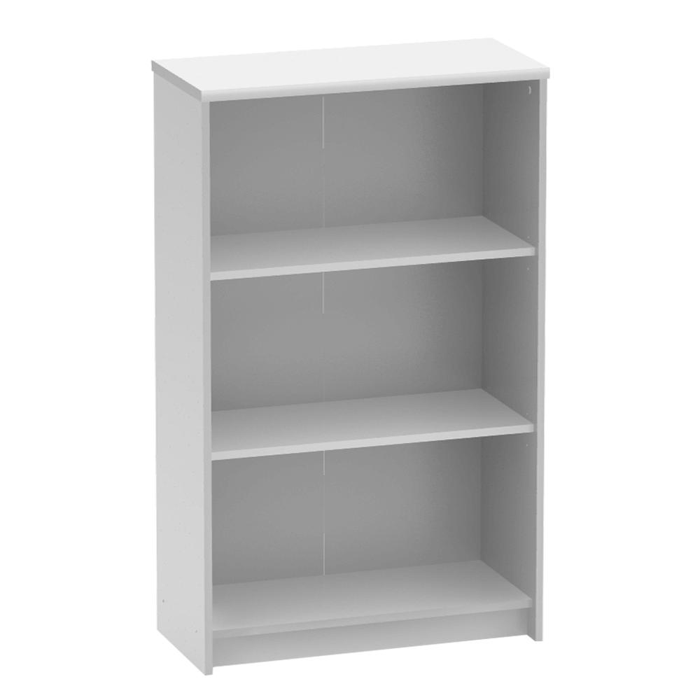 Irodai polcos szekrény, fehér, JOHAN NEW 03
