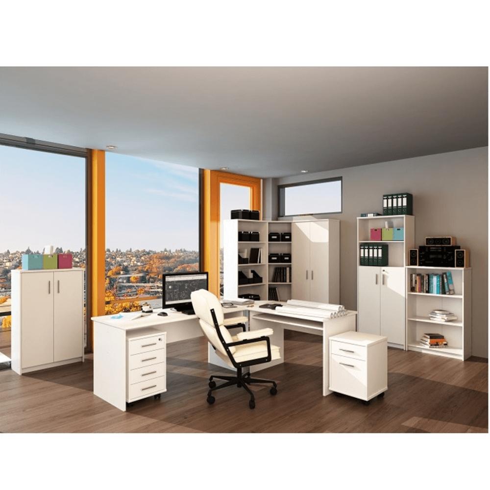 Kancelársky regál nízky, biela, JOHAN NEW 03