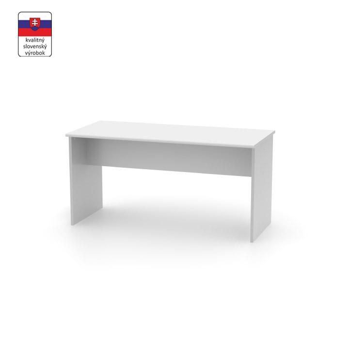 Kancelársky stôl obojstranný , biela, na bielom pozadí, JOHAN NEW 08