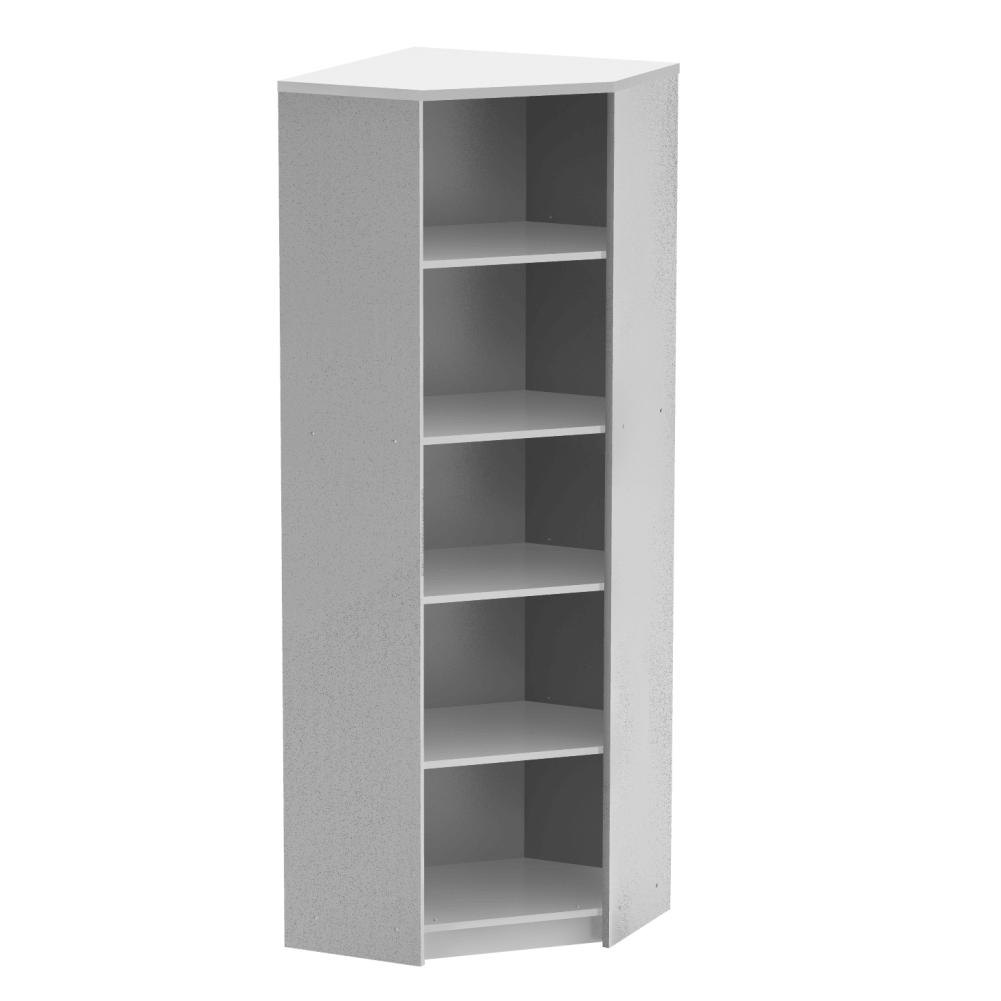 Sarok polcos szekrény, fehér, JOHAN NEW 09