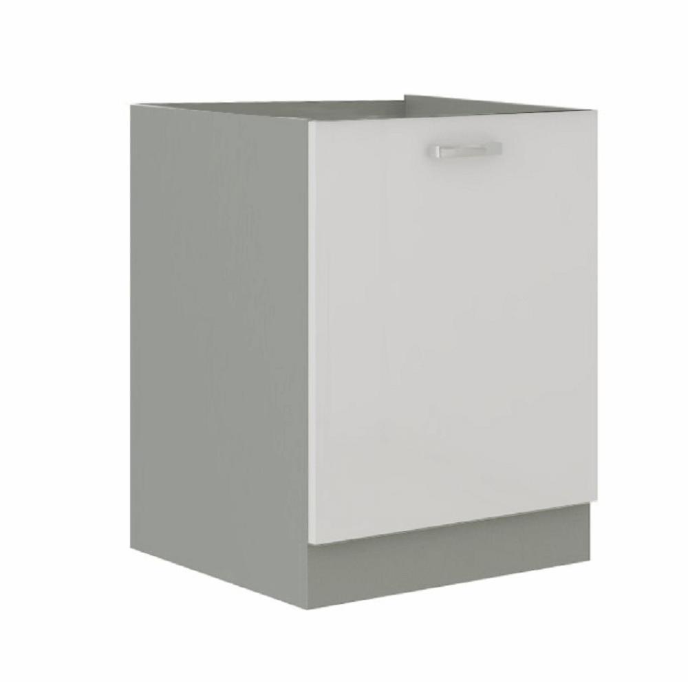 Cabinet inferior, alb extra lucios/gri, PRADO 60 D 1F BB