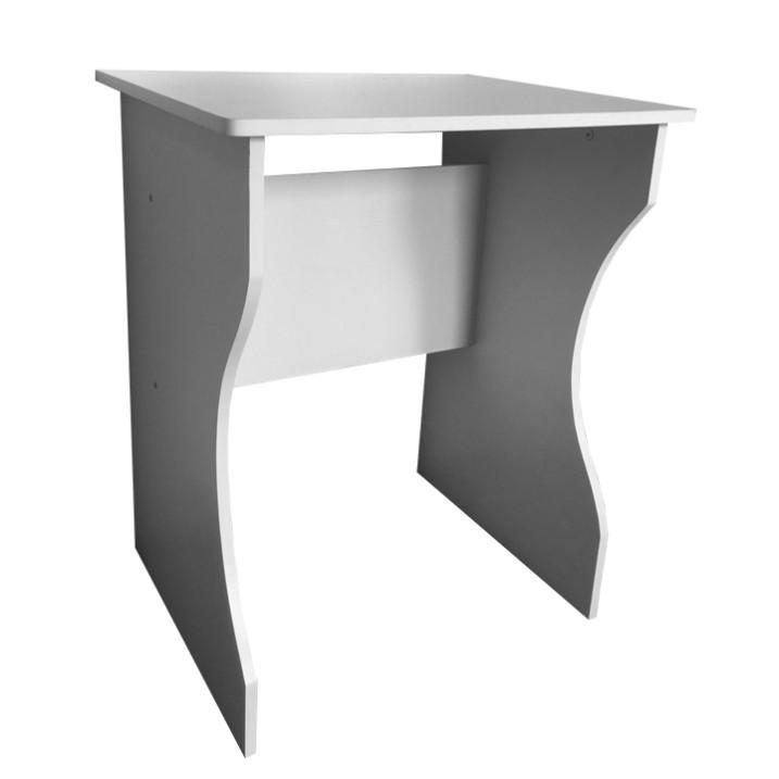Písací stôl, biela farba, z DTD laminovanej, TORVI