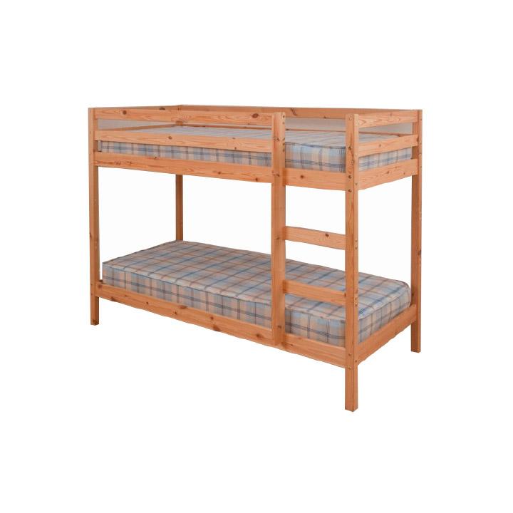 Poschodová posteľ, borovicové drevo svetlohnedá, VERSO - detail postele
