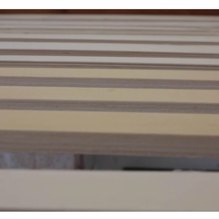 Poschodová posteľ, borovicové drevo svetlohnedá, VERSO - rosť postele
