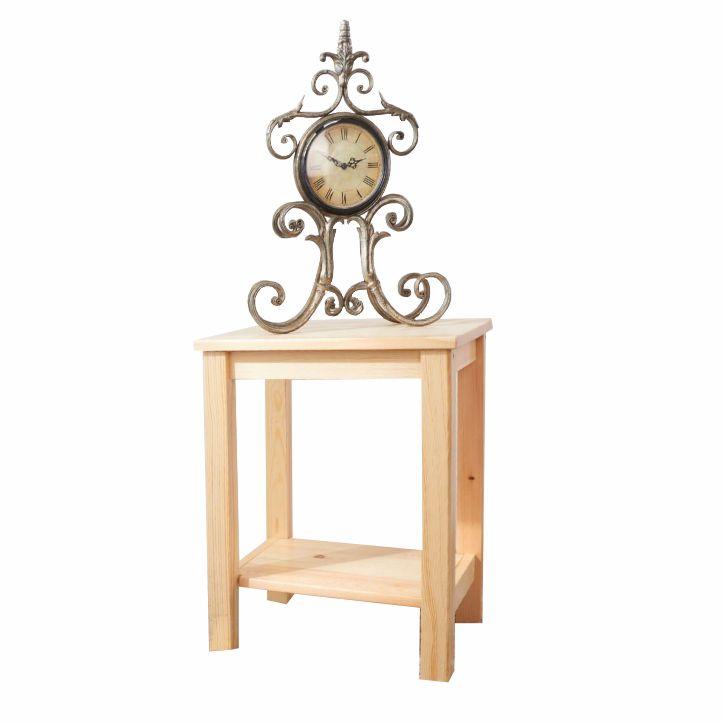 Nočný stolík, drevo/prírodná, FOSIL