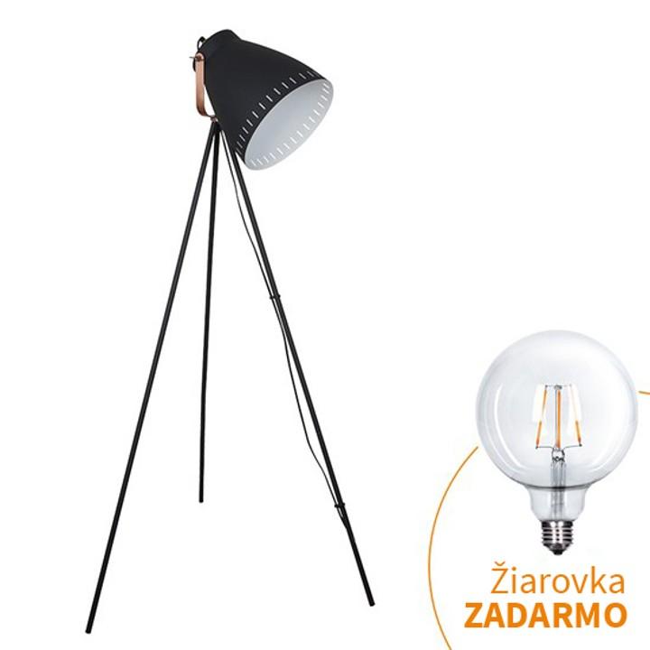 Stojacia lampa, čierna, TORINO WA001-B