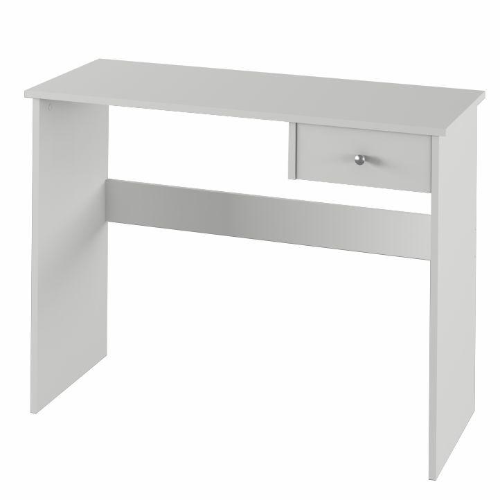 PC stôl s jedným šuplíkom, biela, DTD laminovaná,  VASOL