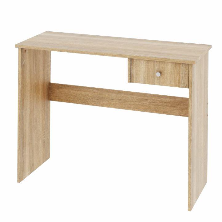 PC stôl s jedným šuplíkom, dub sonoma, DTD laminovaná,  VASOL