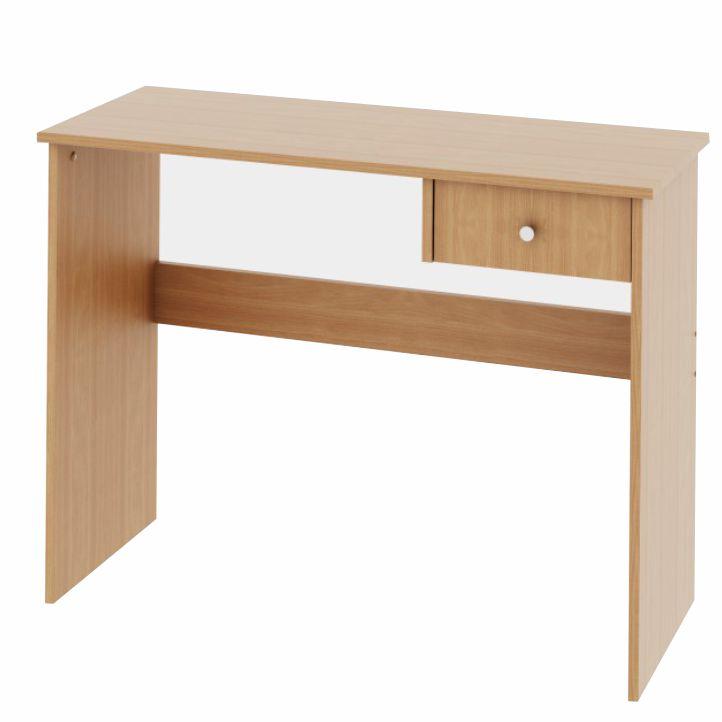 PC stôl s jedným šuplíkom, buk, DTD laminovaná,  VASOL