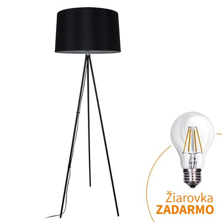 Stojacia lampa, matná čierna, MILANO WA004-B