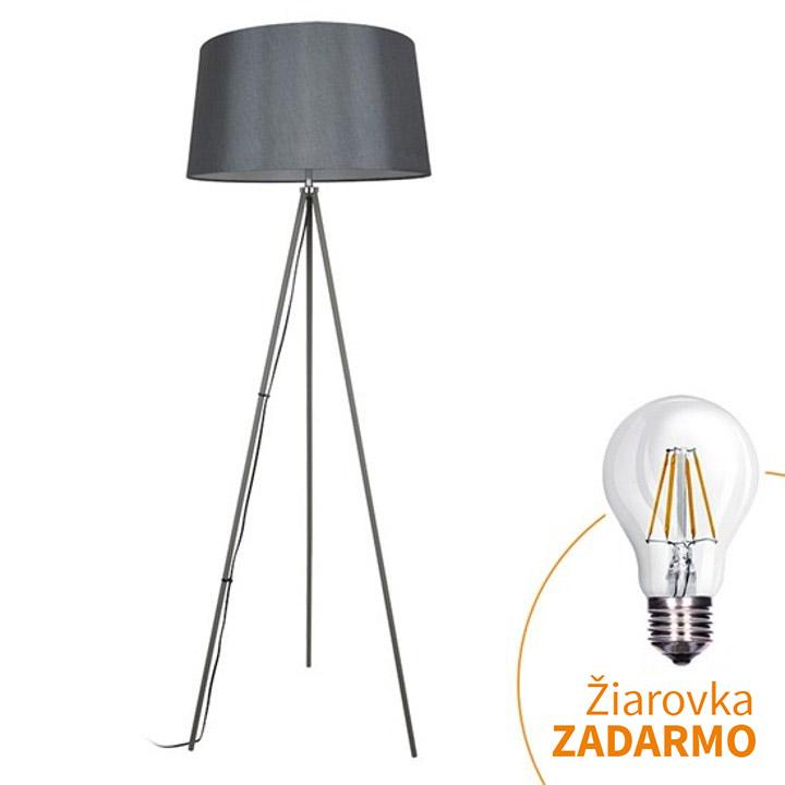 Stojacia lampa, matná sivá, MILANO WA004-G, na bielom pozadí