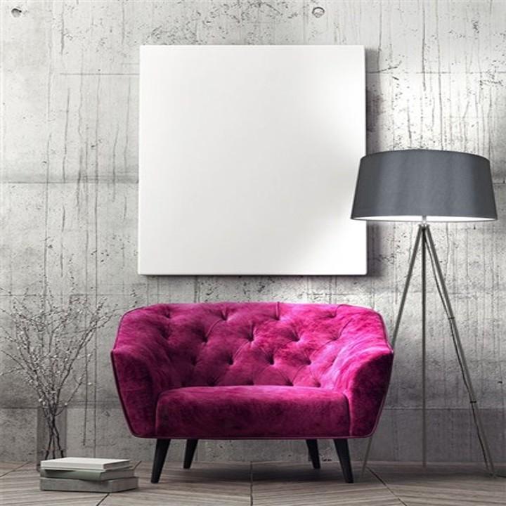 Stojacia lampa, matná sivá, MILANO WA004-G, interiérová fotka