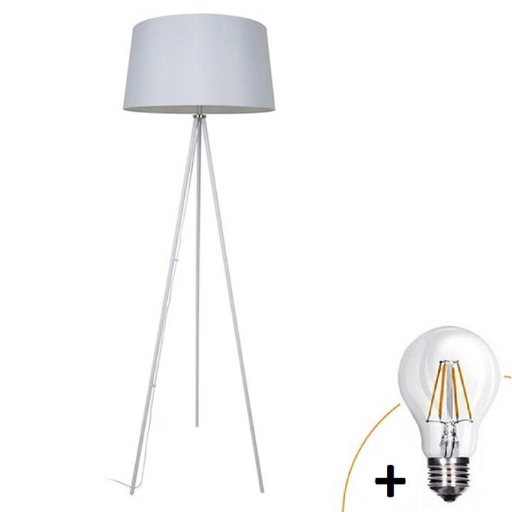 Lampa de podea   Milano wa004-w, albă, trepied