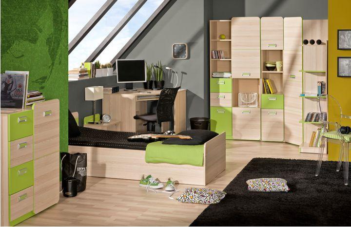 Sektorový nábytok Ego jaseň/zelená