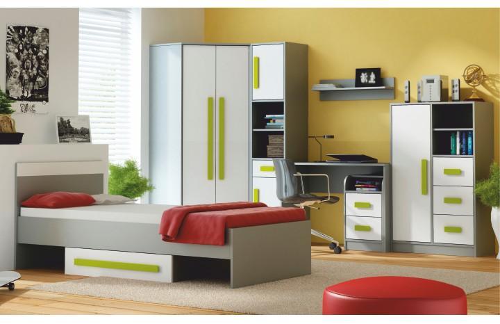 Sektorový nábytok Piere sivá/biela/zelená