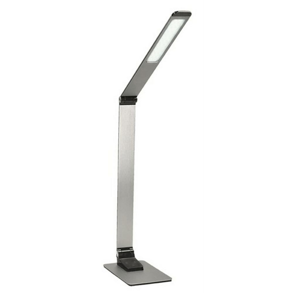 LED lampa de masă Wo51-s, argintie, aluminiu