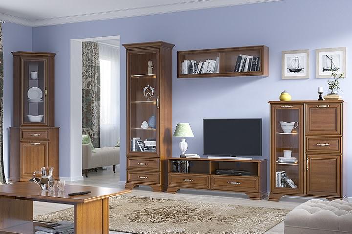 Sektorová zostava do obývacej izby Tiffy gaštan