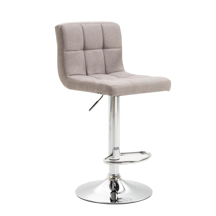 Barová stolička, sivohnedá taupe látka/chróm, KANDY NEW