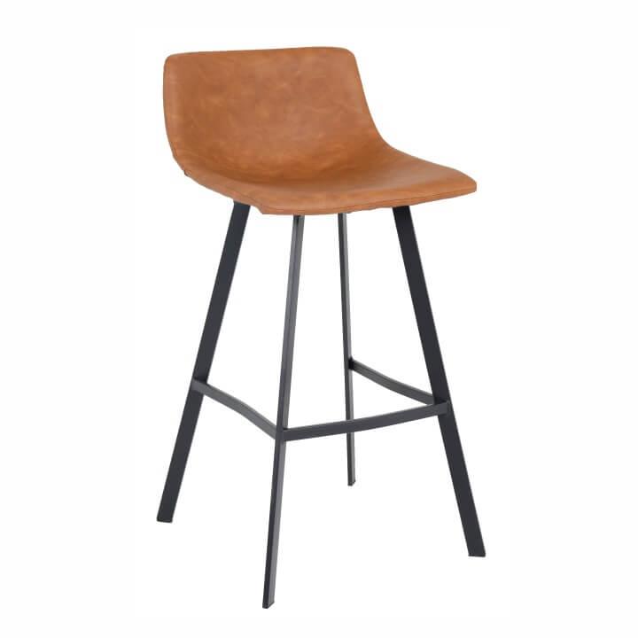 Barová stolička, svetlohnedá/čierny kov, FALUN