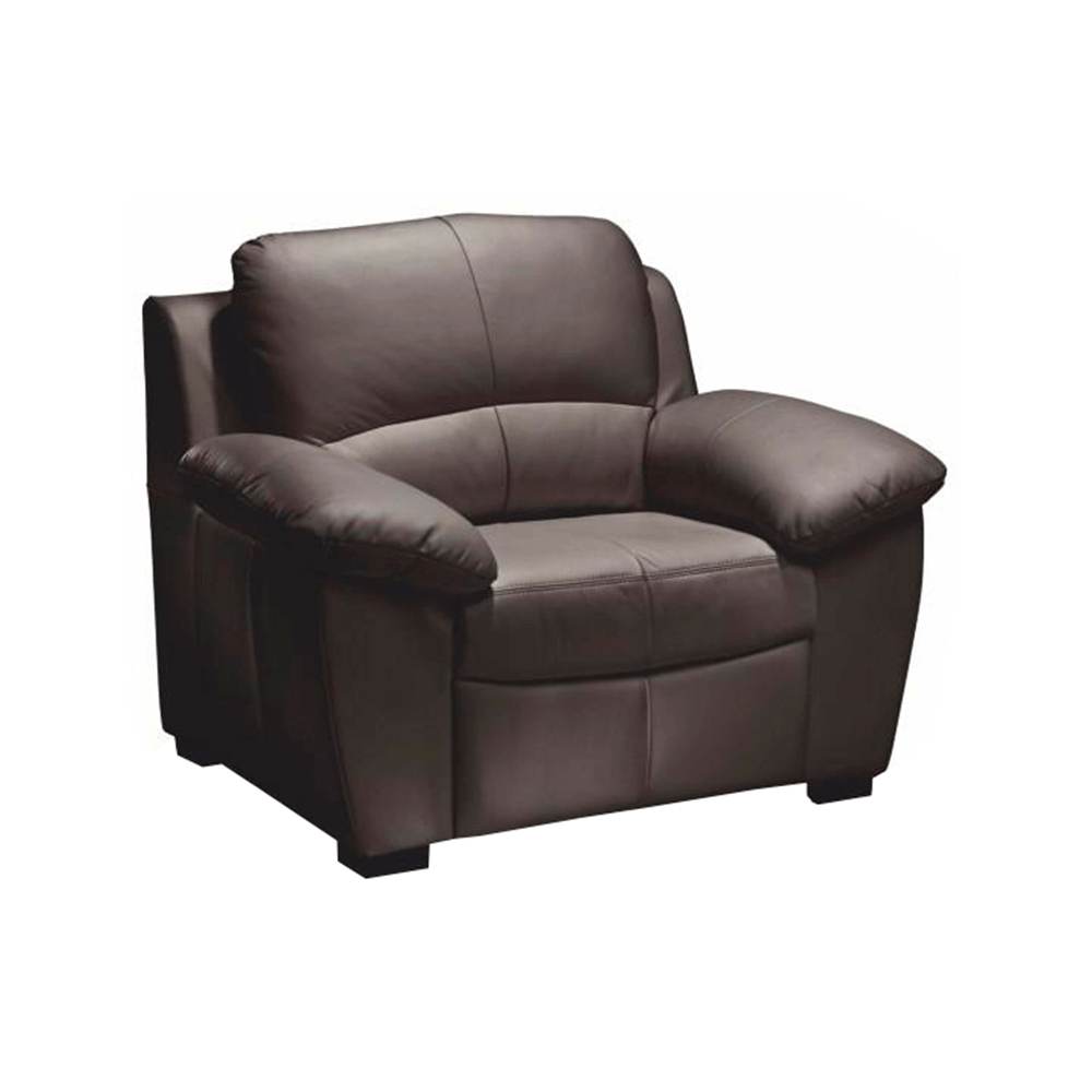 Bőr fotel, sötétbarna, DANILO