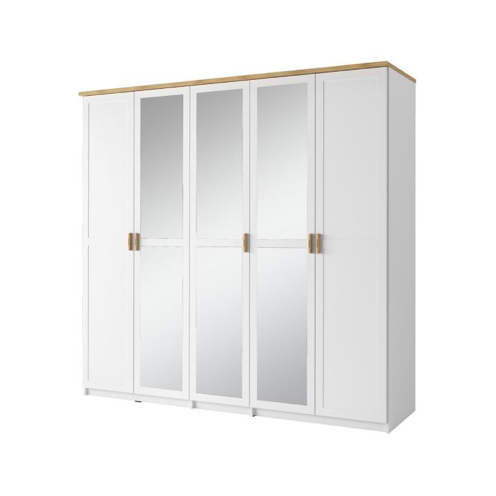 5-dverová skriňa, biela/dub wotan, ANICEA