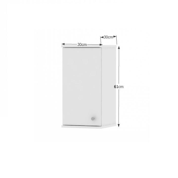 Horná závesná skrinka 1D, biela, s rozmermi, GALENA SI09
