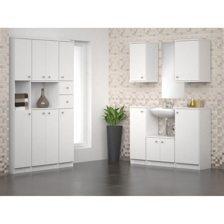 Horná závesná skrinka 1D, biela, interiérová fotka, GALENA SI09