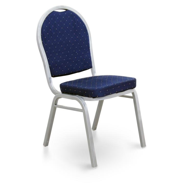 Stolička, stohovateľná, tmavomodrá/sivý rám, JEFF 2 NEW, vzorový tovar