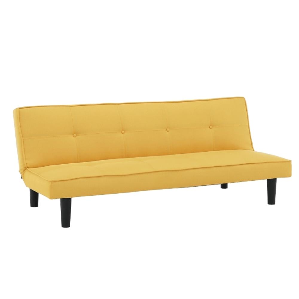 Kinyitható kanapé, mustár/fekete, ZELDA