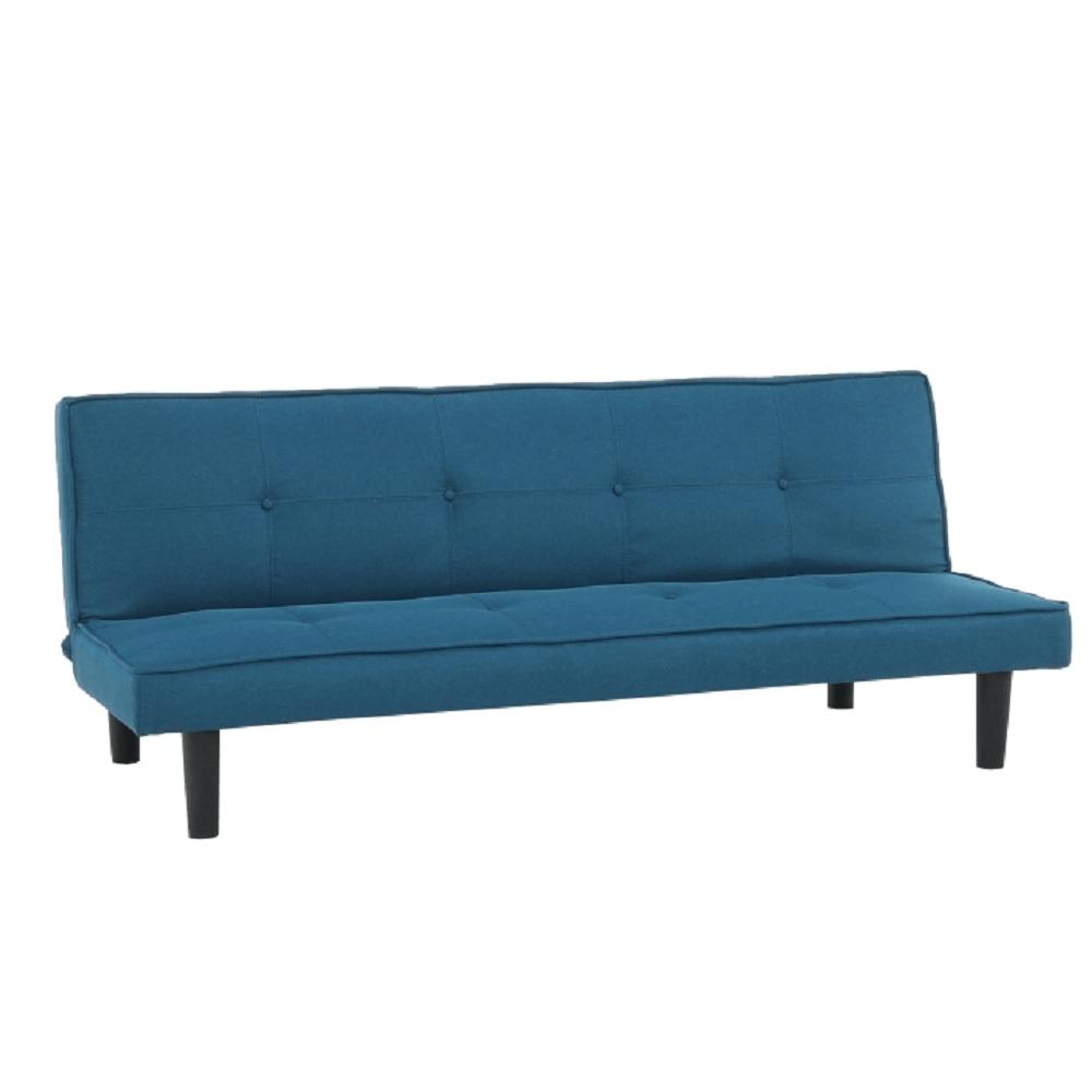 Kinyitható kanapé, kék/fekete, ZELDA