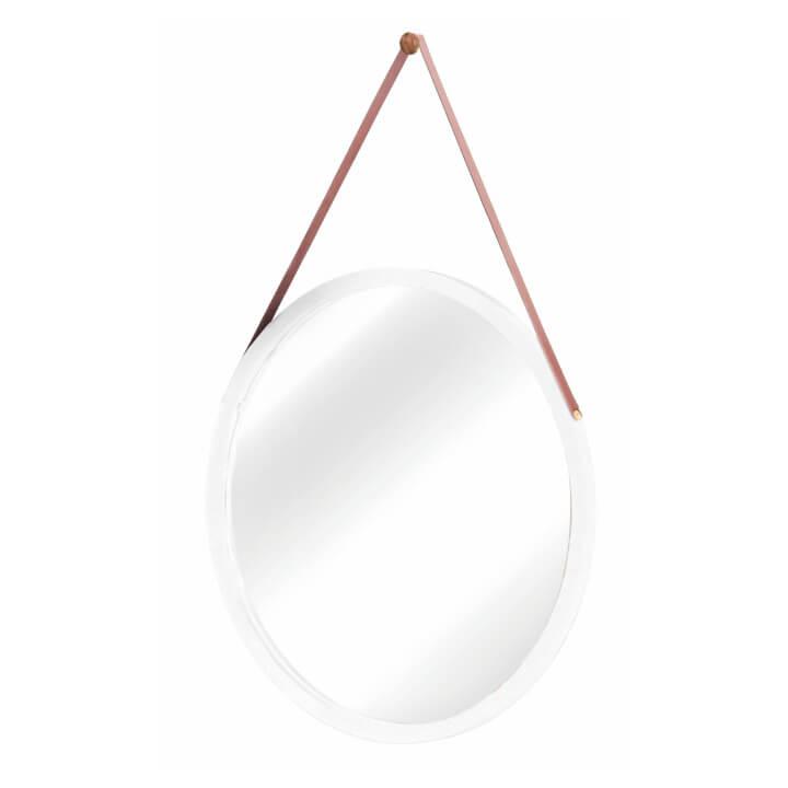 Zrkadlo, bambus/biela, LEMI 1