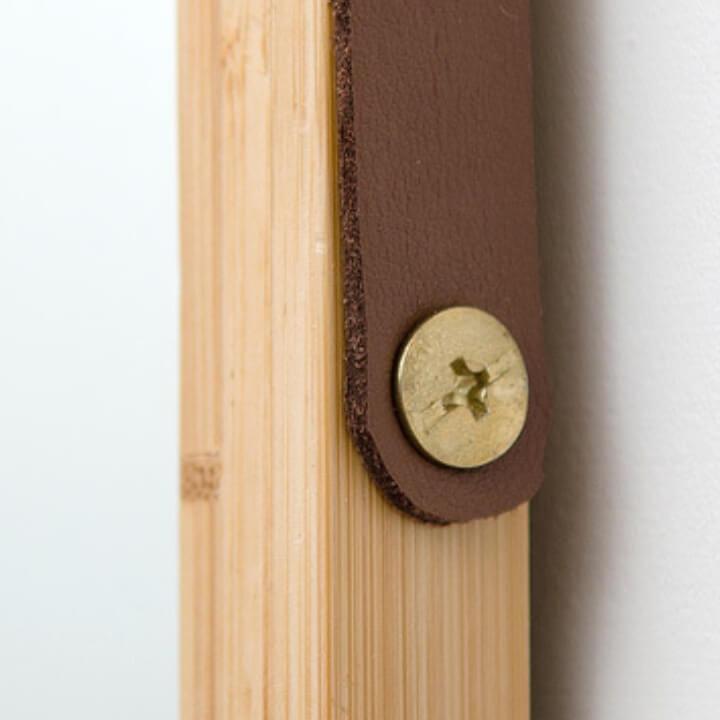 Zrkadlo, prírodný bambus, LEMI 3 uchytenie