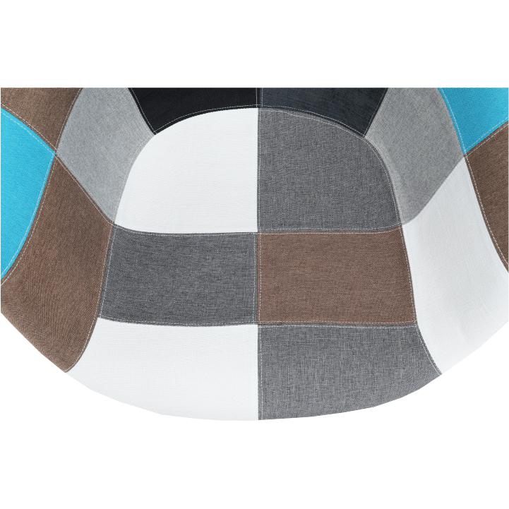 Kreslo, látka patchwork/buk, KUBIS  NEW TYP 2, detail na sedadlo