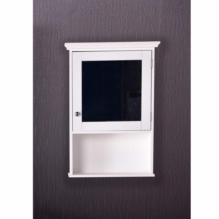 Závesná skrinka so zrkadlom biela, ATENE TYP2 - skrinka v interiéri