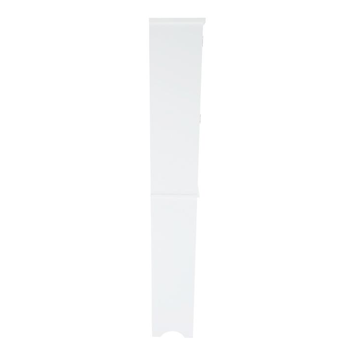 Skrinka nad WC, biela, ATENE TYP 5, detail z boku
